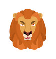 lion angry emoji wild animal evil emotions beast vector image