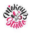 Makeup studio logo of
