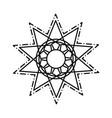 mandala decorative ornament ethnic oriental line vector image