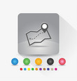 map icon sign symbol app in gray square shape vector image