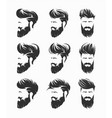 mens hairstyles hirecut with beard mustache face vector image vector image