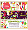 Merry Christmas Template Banners Set in Modern vector image vector image