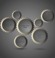 Metallic gear wheels vector image vector image