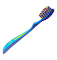 modern toothbrush icon cartoon style vector image