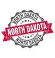 north dakota round ribbon seal vector image vector image