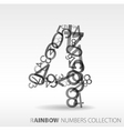 number four design elements vector image vector image