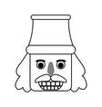 nutcracker figurine icon image vector image vector image