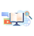 online learning or e-learning concept vector image