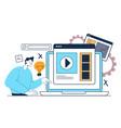 online web internet education lessons tutorial vector image