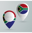 paper of map marker for maps south africa vector image vector image