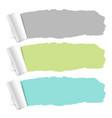 pastel color torn paper set vector image