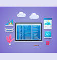 programming in 3d style vector image