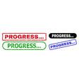 progress rectangle watermarks using unclean vector image vector image