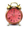 red retro style alarm clock vector image vector image