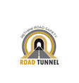 road tunnel isolated icon with highway or freeway vector image vector image