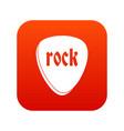 rock stone icon digital red vector image vector image