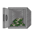 safe box with money vector image