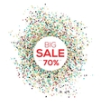 Sale confetti banner on white background Sale vector image