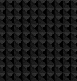 Seamless black geometric embossed pattern vector image