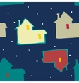 seamless blue background night sky and houses vector image
