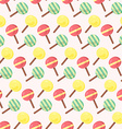 seamless pattern from ice-creams vector image vector image