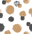 Seamless pattern with grunge circles Black and vector image