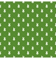 Seamless pattern with rabbits and stripes in rhomb vector image vector image