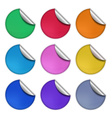 set glossy round stickers eps 10 vector image vector image
