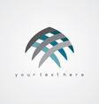 sign abstract Fish logo vector image
