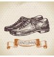 Sketch gentlemen accessory vector image vector image