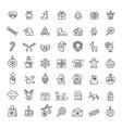 small christmas icons set vector image