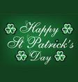 st patricks day holiday card vector image vector image