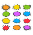 starburst bubbles set vector image