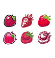 strawberry design icons vector image vector image