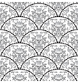 Stylized fish scale japan seamless pattern Flower vector image