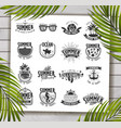 summer designs on tropical beach background vector image vector image