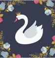 swan lake greeting card poster and vector image vector image