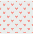 tile pattern with pink hearts on pastel grey vector image vector image