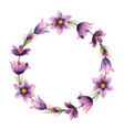 watercolor hand painted wreaths with violet vector image vector image