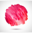 watercolor-red-blot vector image vector image