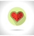watermelon heart icon vector image