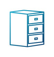 wooden drawer isolated vector image vector image