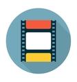 Film strip flat icon vector image