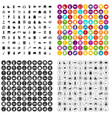 100 housework icons set variant vector image vector image