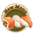 A new menu label with sushi vector image vector image