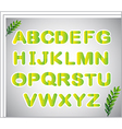 A paper with the letters of the alphabet vector image vector image