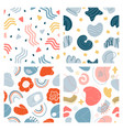 abstract doodle pattern hand drawn modern vector image
