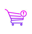 attention buy cart shop store icon vector image vector image