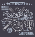 Baseball sport typography Eastern league los vector image vector image