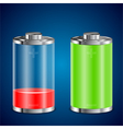 battery transparent icons vector image
